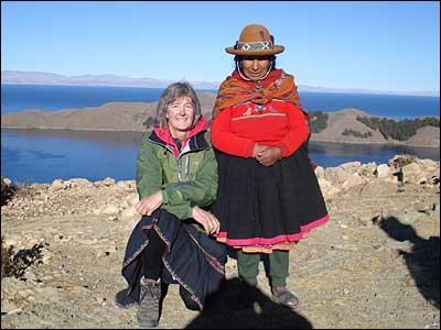 Jag och Dona Maria, Solön, Peru 2011