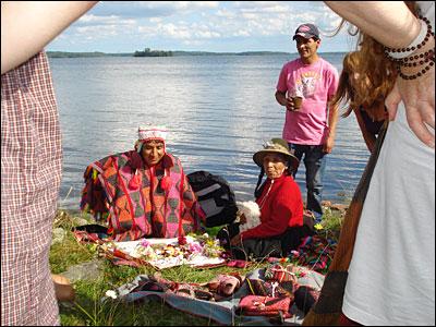 Q'ero-indian och medicinkvinna Dona Maria i Stockholm 2012