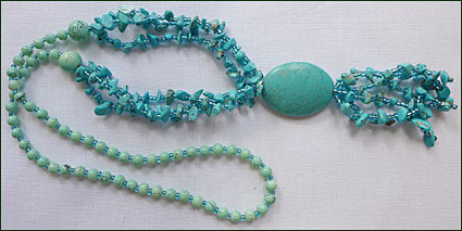 Turkost halsband från Mongoliet