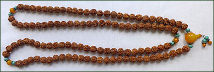 Brunt halsband från Mongoliet